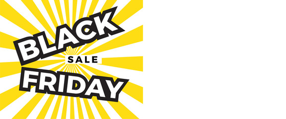 Black Friday sale banner with copy space for text. Vector illustration EPS 10