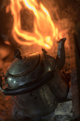 kettle and fire