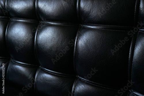 Texture Of Beautiful Black Leather Sofa