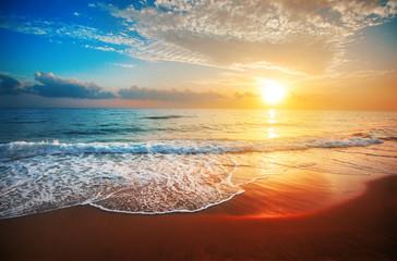 Aluminium Prints Sea sunset sunset and sea
