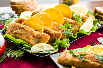 Fototapete - Carp - Christmas fish in Polish cuisine