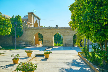The arched fence of Hafezieh, Shiraz, Iran