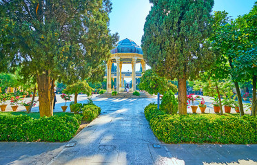 Explore Tomb of Hafez complex, Shiraz, Iran
