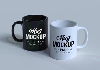 Two Mugs Mockup