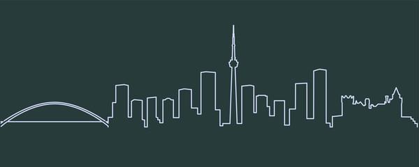 Toronto Single Line Skyline