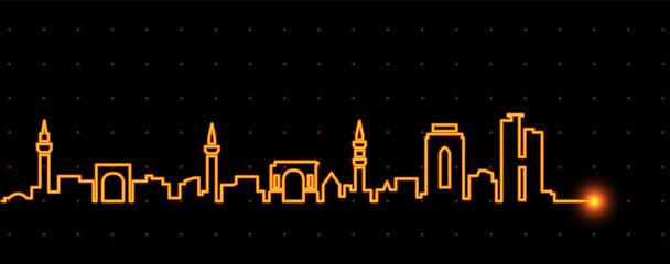 Tripoli Light Streak Skyline