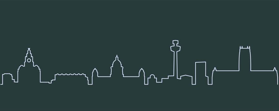 Liverpool Single Line Skyline