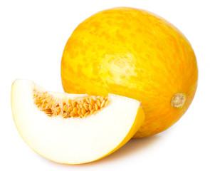 Fresh melon on white background
