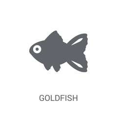 Goldfish icon. Trendy Goldfish logo concept on white background from animals collection