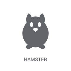 Hamster icon. Trendy Hamster logo concept on white background from animals collection