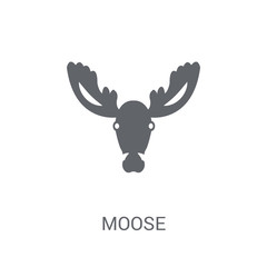 Moose icon. Trendy Moose logo concept on white background from animals collection