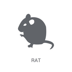 Rat icon. Trendy Rat logo concept on white background from animals collection