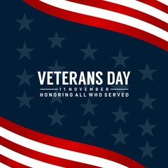 veteran day design for celebrate