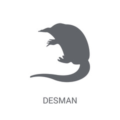 Desman icon. Trendy Desman logo concept on white background from animals collection