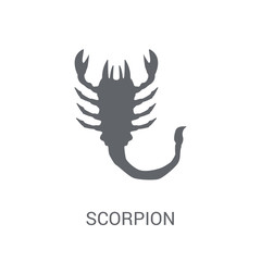 Scorpion icon. Trendy Scorpion logo concept on white background from animals collection
