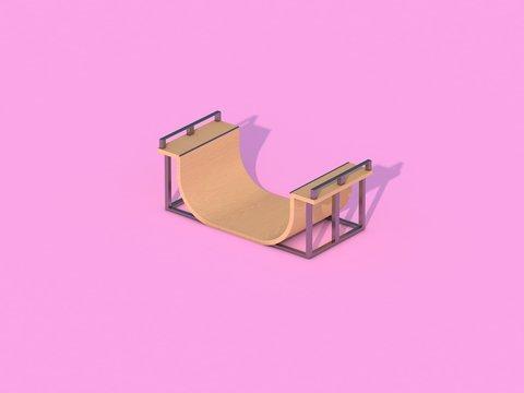 Half-pipe - 3D Render
