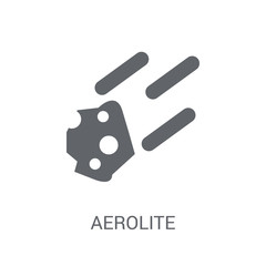 aerolite icon. Trendy aerolite logo concept on white background from Astronomy collection