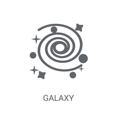 Galaxy icon. Trendy Galaxy logo concept on white background from Astronomy collection