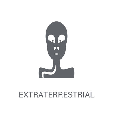 Extraterrestrial icon. Trendy Extraterrestrial logo concept on white background from Astronomy collection