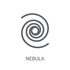 Nebula icon. Trendy Nebula logo concept on white background from Astronomy collection