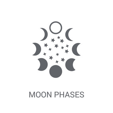 Moon phases icon. Trendy Moon phases logo concept on white background from Astronomy collection