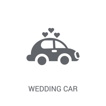 Wedding car icon. Trendy Wedding car logo concept on white background from Birthday party and wedding collection