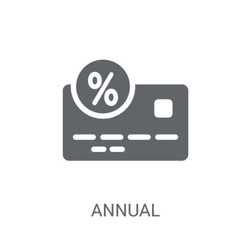 Annual percentage rate (APR) icon. Trendy Annual percentage rate (APR) logo concept on white background from business collection
