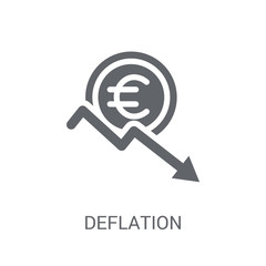 Deflation icon. Trendy Deflation logo concept on white background from business collection
