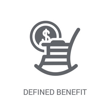Defined benefit pension icon. Trendy Defined benefit pension logo concept on white background from business collection