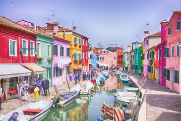 Brightly colored houses of Burano