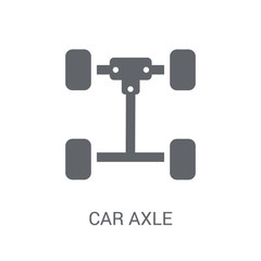 car axle icon. Trendy car axle logo concept on white background from car parts collection