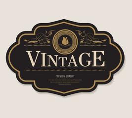 Obraz antique label and vintage banner retro style frame border. - fototapety do salonu
