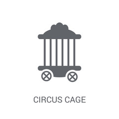 Circus Cage icon. Trendy Circus Cage logo concept on white background from Circus collection