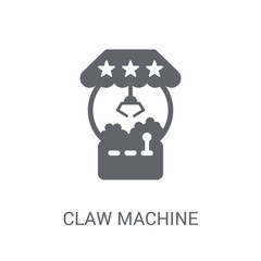 Claw machine icon. Trendy Claw machine logo concept on white background from Circus collection