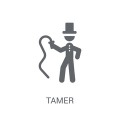 Tamer icon. Trendy Tamer logo concept on white background from Circus collection