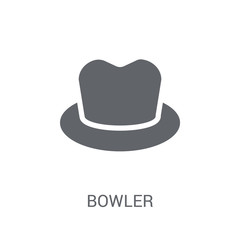 Bowler icon. Trendy Bowler logo concept on white background from Clothes collection