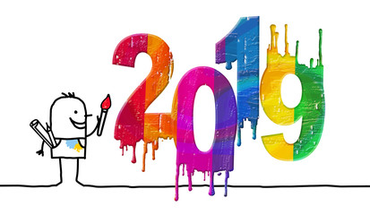 Artist and Fresh Colored 2019 Number