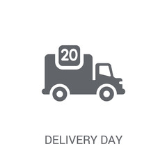 Delivery day icon. Trendy Delivery day logo concept on white background from Delivery and logistics collection