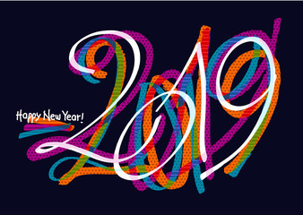 2019 graffiti colorful design