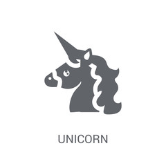 Unicorn icon. Trendy Unicorn logo concept on white background from Fairy Tale collection