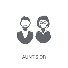 aunt's or uncle's child icon. Trendy aunt's or uncle's child logo concept on white background from Family Relations collection