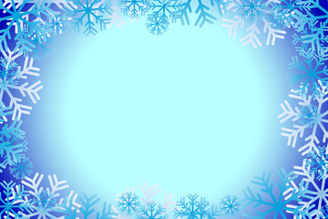 Blue christmas background with snowflakes. Vector image. Texture.