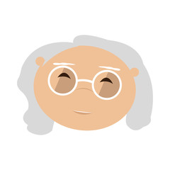 Isolated old woman. Grandmother. Vector illustration design