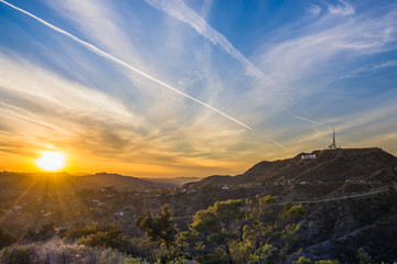 Hollywood Hills sunset Los Angeles