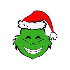 Grinch in happy emoji icon