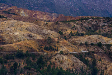 The iron ore hills of Queenstown