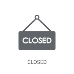 Closed sign icon. Trendy Closed sign logo concept on white background from Museum collection