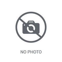 No photo sign icon. Trendy No photo sign logo concept on white background from Museum collection