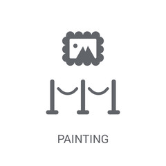 Painting icon. Trendy Painting logo concept on white background from Museum collection