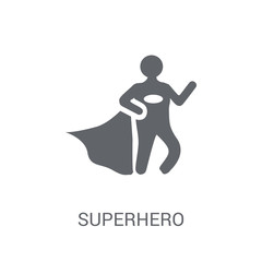 Superhero icon. Trendy Superhero logo concept on white background from Professions collection